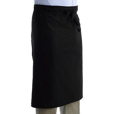 Cook Waist Apron Professional Chef Catering Plain Black Bistro Polycotton 1 / 5