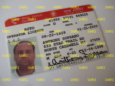 The Sopranos - Anthony Soprano  - Prop Driver's License [ NOT REAL ]
