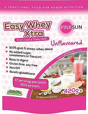 Goat Sheep Whey Protein Concentrate Powder 420g Undenatured Soy Free Unflavoured