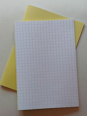 A4 maths exercise book with 64 pages 1cm squared paper