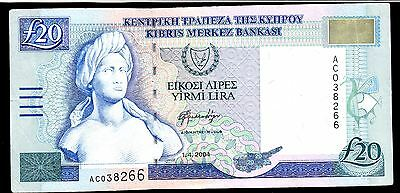 Cyprus Banknote, 20 Pounds, 2004 Year , Pic#63