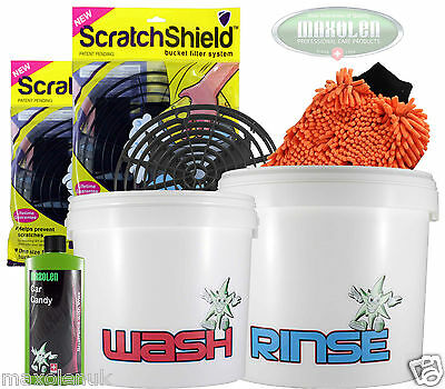 2 Bucket Wash System 12/16L ScratchShield's Noodle Mitt 500ml Car Candy