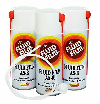 Hodt Fluid Film AS R 23,33€/L Nas Spray+Düse 60cm 3 x400ml Hohlraumschutz