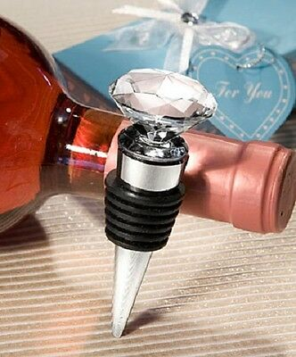 1 x Crystal Diamond Design Wine Bottle Stopper - NEW - Wedding Favours and Gifts