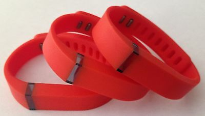 3pcs Large L Real Red Bands & Clasps For Fitbit Flex Bracelet Band /No Tracker