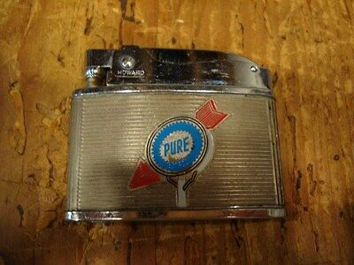 Vintage Pure Gas Lighter Howard Lighter Jimmy Mayes KY Franklin TN Truck Stop