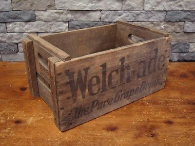 Rare Antique 1800s 1900s Welch-Ade drink HUTCHINSON Crate WOW Att: Collectors