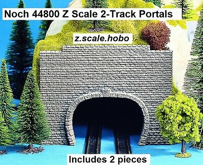Noch Z Scale 44800 Two Stone Tunnel Portals Double Track Foam *NEW $0 Shipping