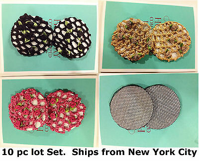 USA 10pc lot set hair bun ballet dance hair head tie women girl wedding band