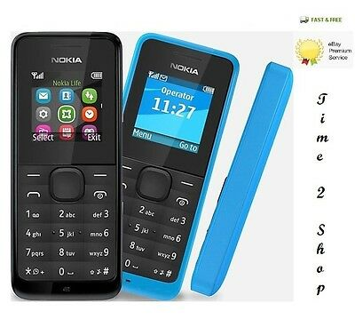 Brand New Nokia 105-BLACK DUAL SIM Unlocked Dust Free Mobile Phone Cheap Basic