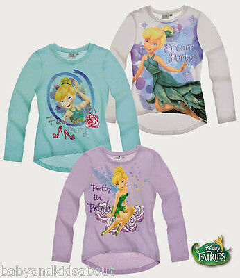 Girls Tinker Bell Long Sleeve T-Shirt Top; 2-8 yrs; New Collection