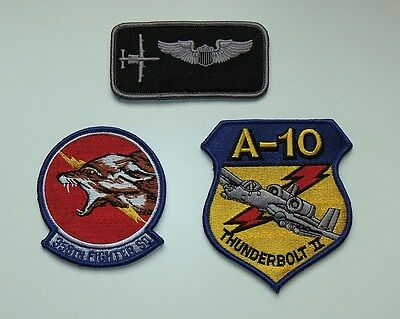 USAF patches set 358th fighter sq. & name tag