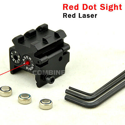 Caza compacto táctico 650nm Red Dot Laser Sight 20mm Dual Weaver Rail Mount