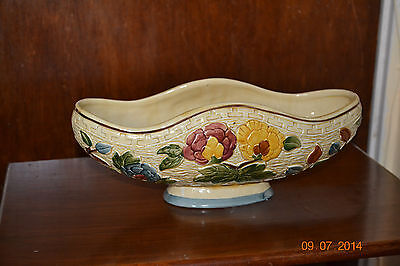 "VINTAGE H. J. WOOD STAFFORDSHIRE HAND PAINTED LARGE PLANTER/VASE ""INDIAN TREE"""
