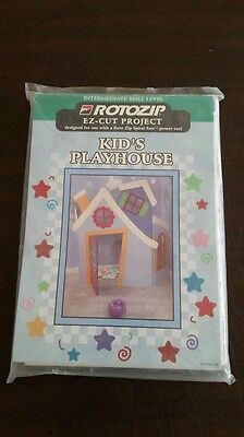 """NEW ROTOZIP E-Z CUT PROJECT """"KID'S PLAYHOUSE"""" Intermediate Level never opened"""