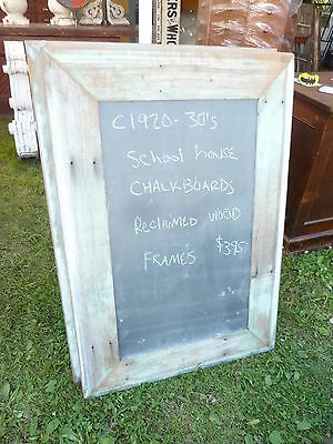 early 20th century schoolhouse SLATE chalkboard salvaged wood FRAME 45.5 x 30.75