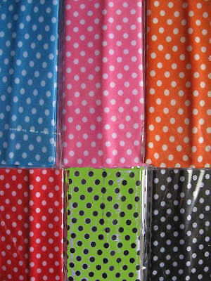 6 MINI Polka Dot Designed Headbands Continuous stretch FUN! LOT Nylon colors