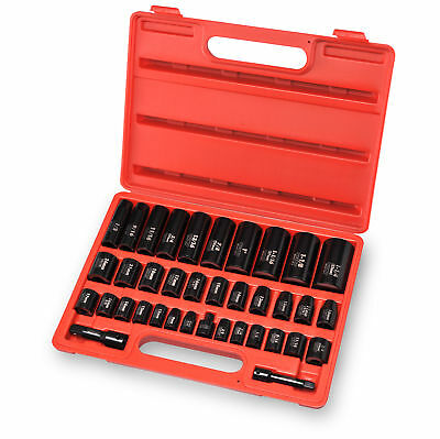 "38pc Duometric Impact Socket Set | 3/8"" & 1/2"" Flank Drive 6pt Deep & Shallow"