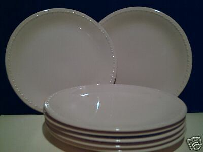 7 Taylor Smith Pink  Bread Plates