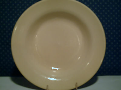 "H F Coors Restaurant China 9"" Yellow Flat Rim Soup Bowl"