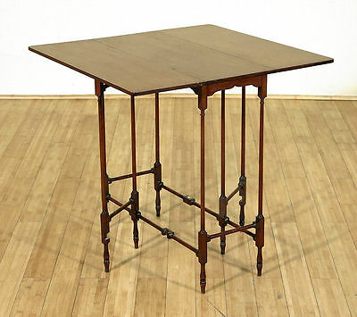 1910 Antique Mahogany Spider Occasional Gateleg Dropleaf Table