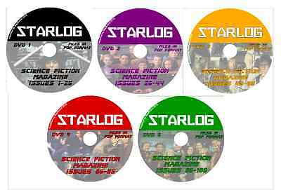 STARLOG 1-106 Sci-Fi Mag on 5 DVDs Star Wars, Babylon 5, Star Trek, Babylon 5 +