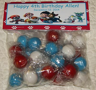 12 Personalized Paw Patrol Birthday Bag Toppers