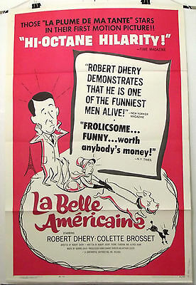 La Belle Americaine - Robert Dhery - Original American One Sheet Movie Poster