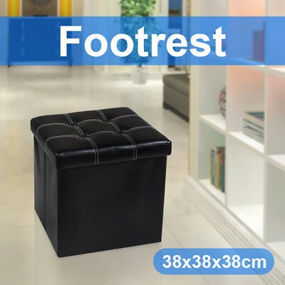 PU Leather Storage Ottoman Chest Blanket Toy Box Foot Stool Bed Various Models