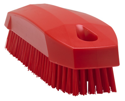 Vikan Nail Brush Upholstery Soft Top Convertible Hood Fabric Cleaning Red 64404