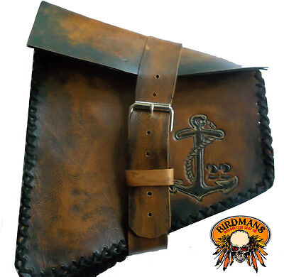 Custom Hand Tooled Leather Tool Bag Fork Bag Handcrafted Design Your Own