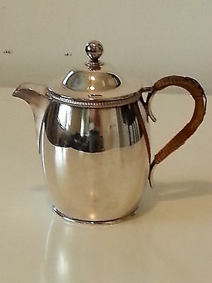 Silver plate electroplate vintage Art Deco antique small wine water jug decanter