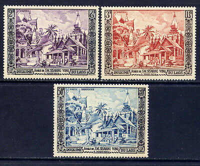LAOS Sc#25-6,C13 1954 Accession of King Sisavang-Vong, 50th Anniversary MNH