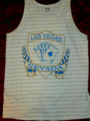 RARE VINTAGE 1991 LAS VEGAS NEVADA TANK LV supreme XL t-shirt MADE IN THE USA