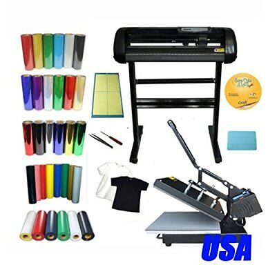 "24"" Cutter Plotter 15x15 Heat Press T-shirt Heat Transfer Vinyl Weeding Tool KIT"