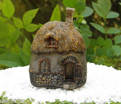 Miniature Dollhouse FAIRY GARDEN ~ Small Thatched Roof Fairy Cottage House ~ NEW
