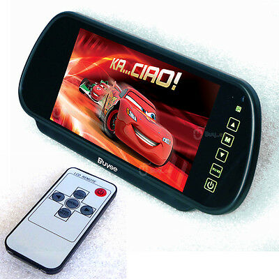 """7"""" LCD TFT Color Mirror Monitor For Car Rearview Reverse Camera"""