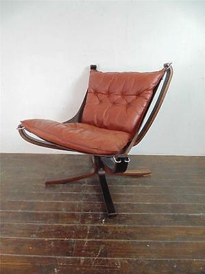 DANISH FALCON CHAIR SIGURD RESELL RESSELL RETRO 60s 70s MIDCENTURY CHESTNUT #950
