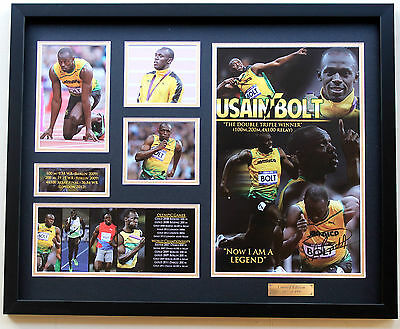 New Usain Bolt Signed Limited Edition Memorabilia