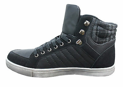 Scarpe Sneakers Uomo Flair Shoes Nero Stivali Stivaletti  40 41 42 43 44 45