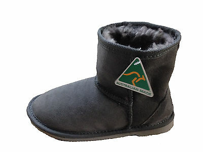 Australian Made Genuine Sheepskin Kids Mini UGG Boots Grey Colour Multi Size