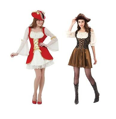 Ladies Red Or Gold #pirate Woman Costume Halloween Fancy Dress