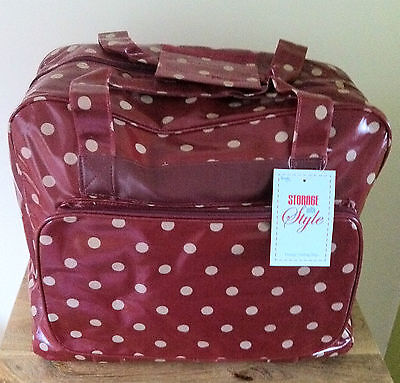 SEWING MACHINE BAG CARRY CASE STURDY VINYL Spot Design 7 Colours Available BNWT