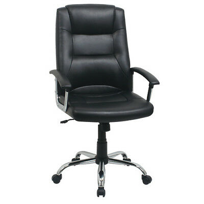 Berlin Business Leather faced swivel executive computer Office Chair in Black