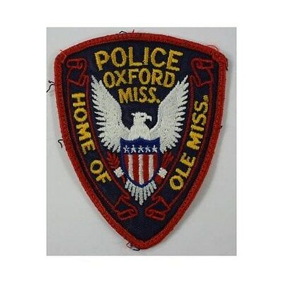 Oxford Mississippi Vintage Police Patch: Blue