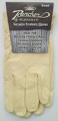 One (1) Pair RANCHER by Plainsman Cabretta Goatskin Leather Gloves SMALL New