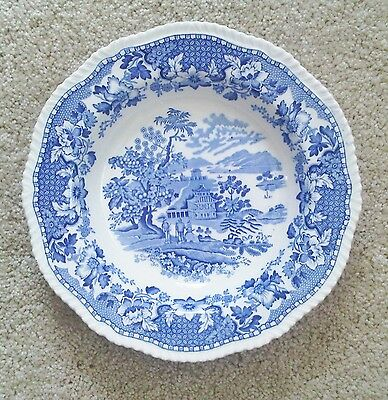 Woods Ivory Ware Seaforth Blue Soup / Cereal Bowl