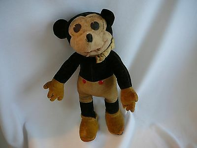 V Rare 1930s  Deans Rag  Mickey Mouse w  tag in beautiful condition