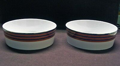 """2 BLOCK CHINA ECHO SPAL PATTERN COUPE CEREAL BOWLS 5 3/4"""""""