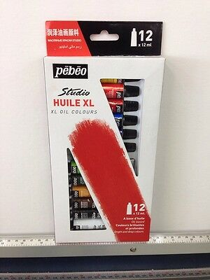 Pebeo Huile Oil Paint Set Of 12